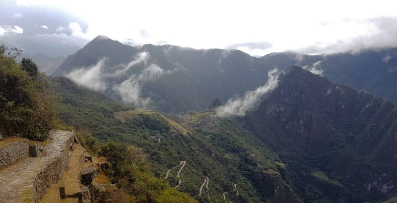 Inca Trail route to Machu Picchu